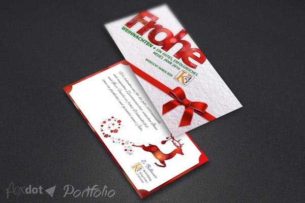 K4 Verlag Weihnachtswerbung