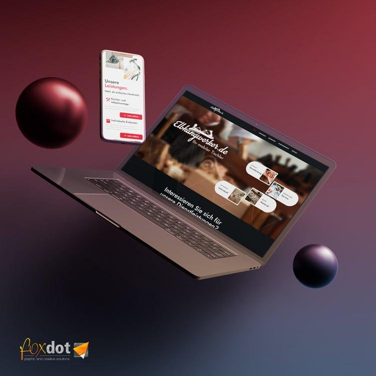 Ansicht auf dem Laptop